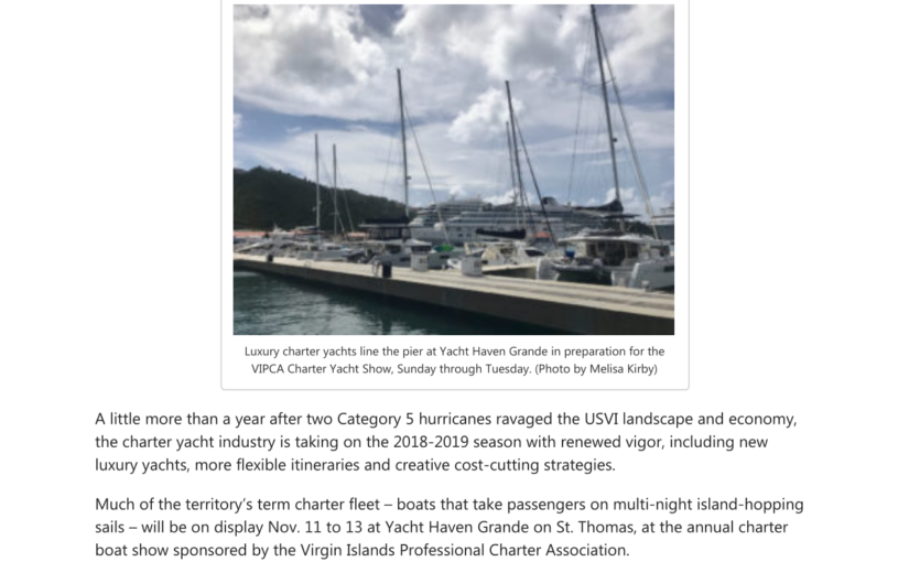 The Source Article – Charter Yacht Industry on a Fast Recovery Course