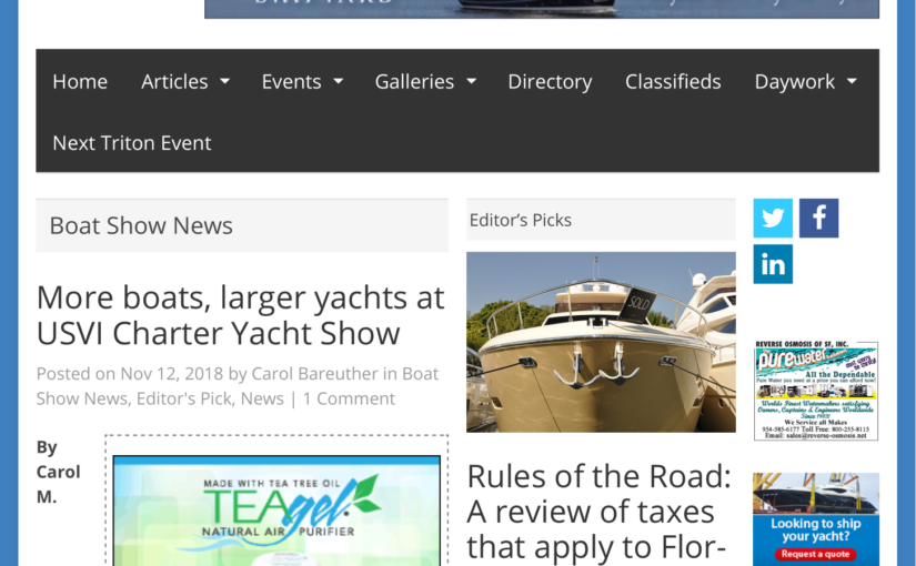The Triton – 2018 Yacht Show Article